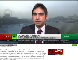 Salman Shaheen on RT News