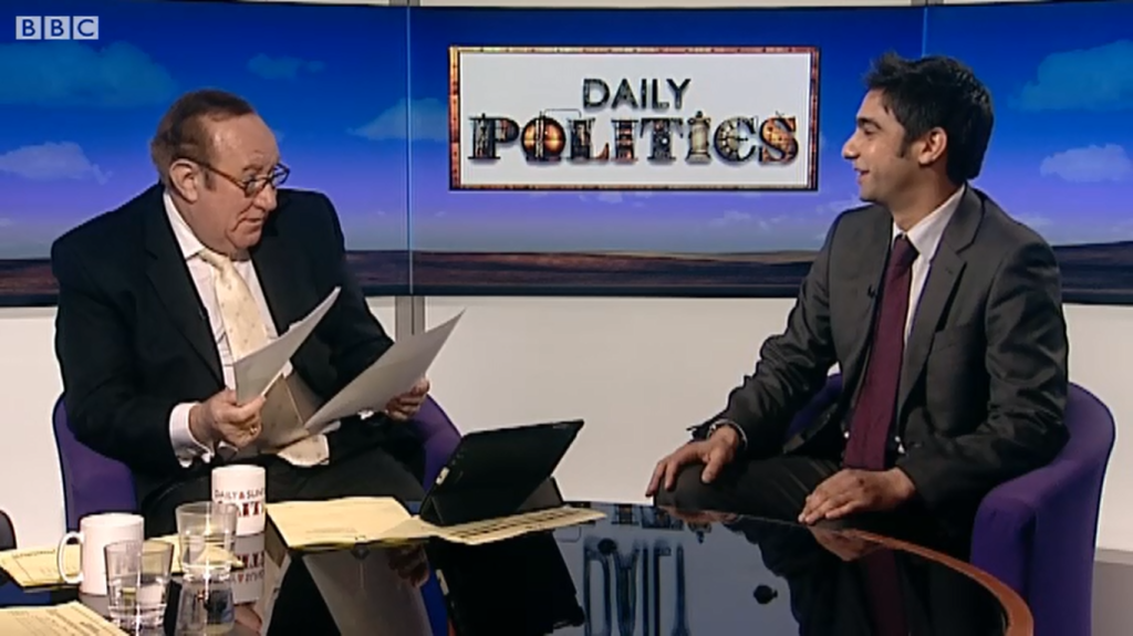 Salman Shaheen - Andrew Neil - Daily Politics