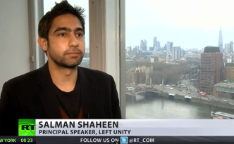 Salman Shaheen, Principal Speaker, Left Unity